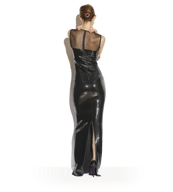 TOM FORD Sleeveless Liquid-Sequin Evening Gown With Illusion, Pink ...