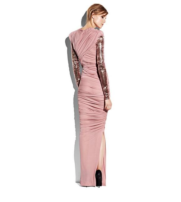 Tom Ford DRAPED GOWN WITH EMBROIDERED SLEEVES   TomFord.com