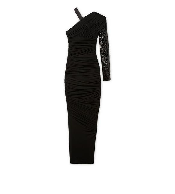 ASYMMETRICAL EVENING DRESS A fullsize