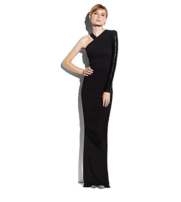 ASYMMETRICAL EVENING DRESS B fullsize