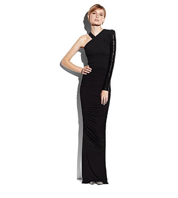 ASYMMETRICAL EVENING DRESS B fullsize