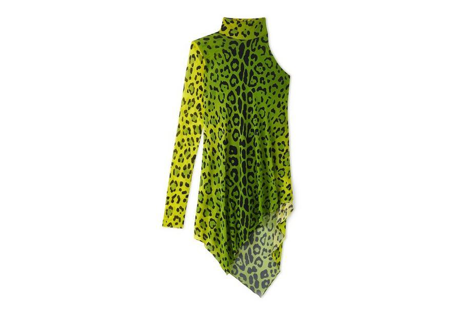 LEOPARD ASYMMETRICAL MINI DRESS A fullsize