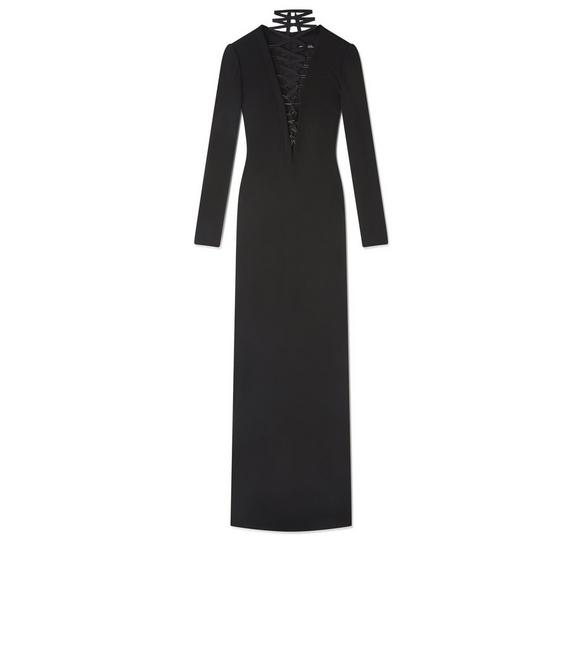 SABLE LACE UP GOWN A fullsize