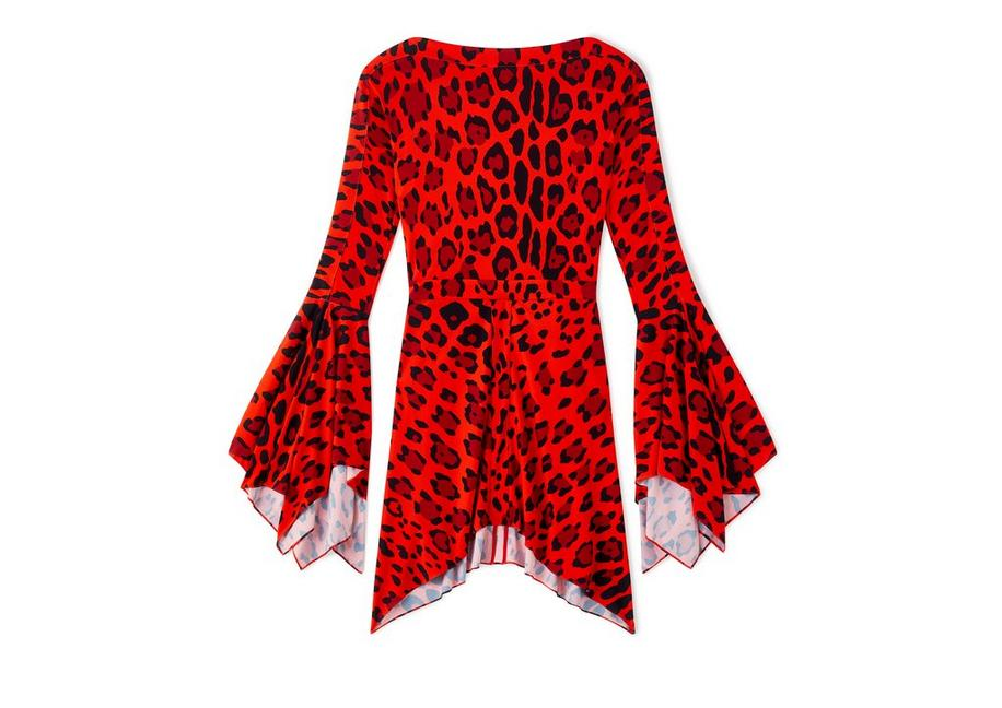 JAGUAR FLUTE SLEEVE DRESS A fullsize