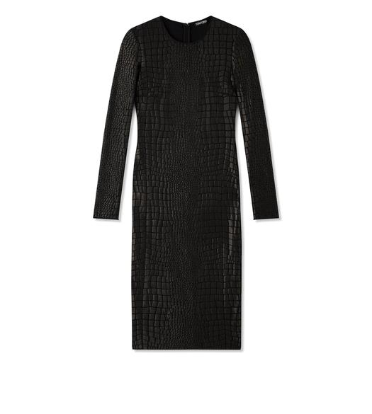 CROCODILE JACQUARD MIDI DRESS