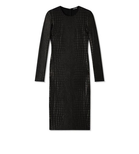 CROCODILE JACQUARD MIDI DRESS A fullsize