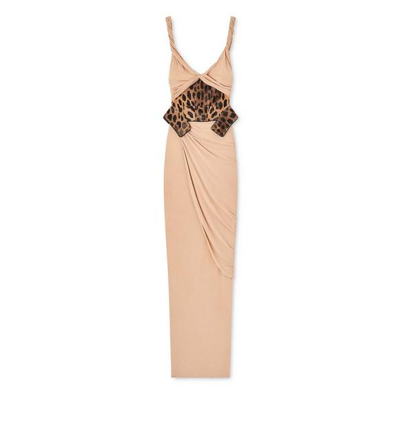 TWIST GOWN WITH PANTHER WAIST CINCHER A fullsize