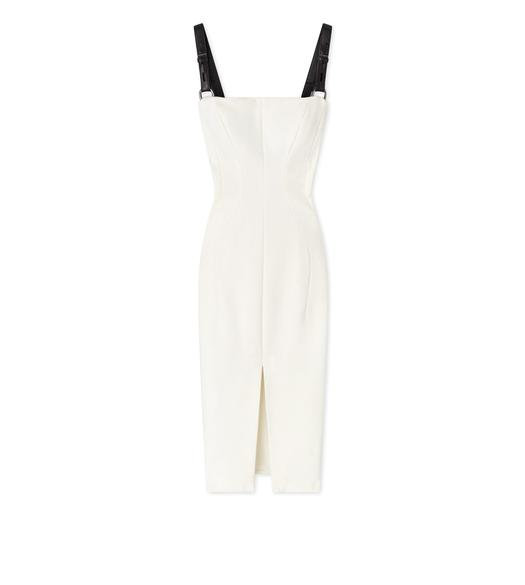 COMPACT VISCOSE JERSEY BUSTIER DRESS