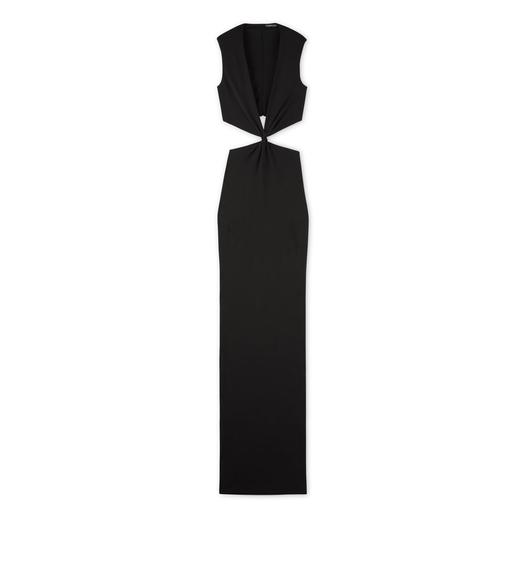 SABLE JERSEY TWISTED KNOTTED GOWN