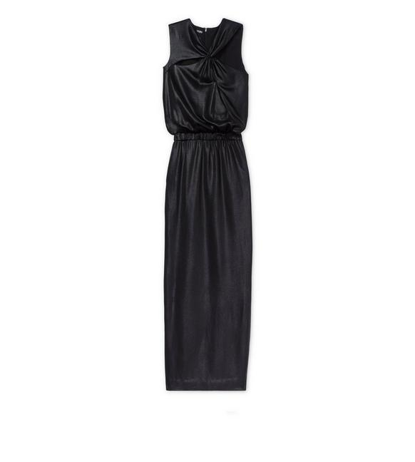 LAMINATED JERSEY GOWN A fullsize