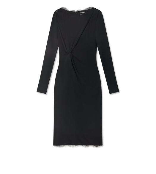 CREPE JERSEY TWIST DRESS