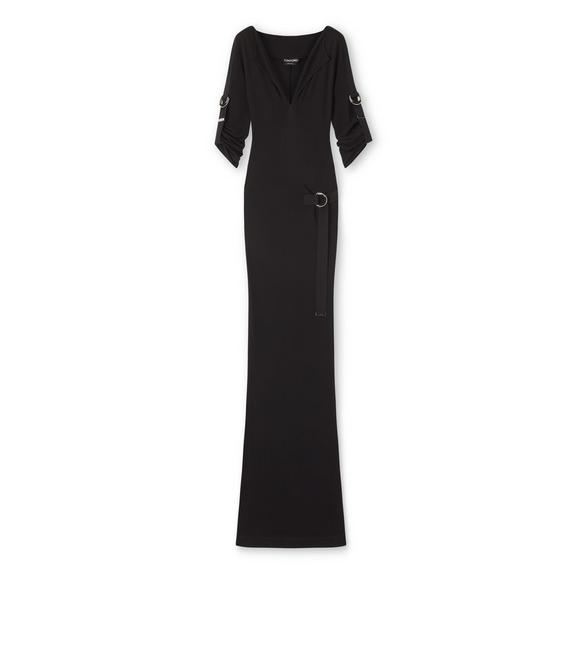 CREPE JERSEY D-RING DRESS A fullsize