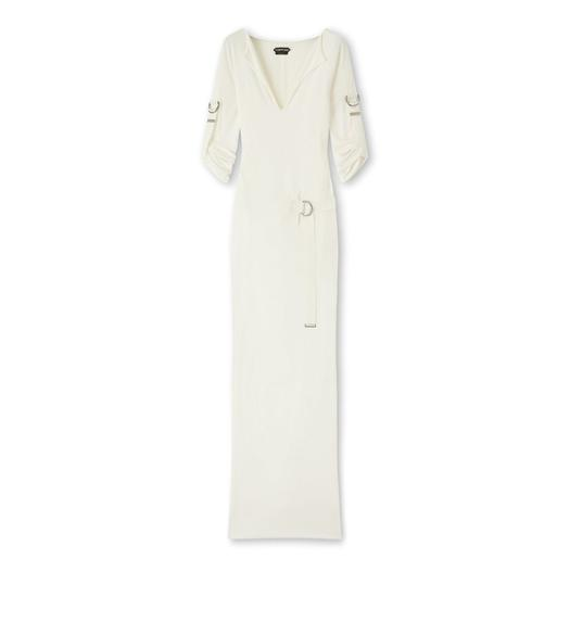 CREPE JERSEY D-RING DRESS