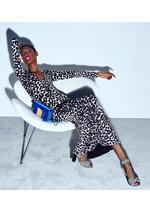 IKAT LEOPARD PRINT V-TWIST DRESS B thumbnail