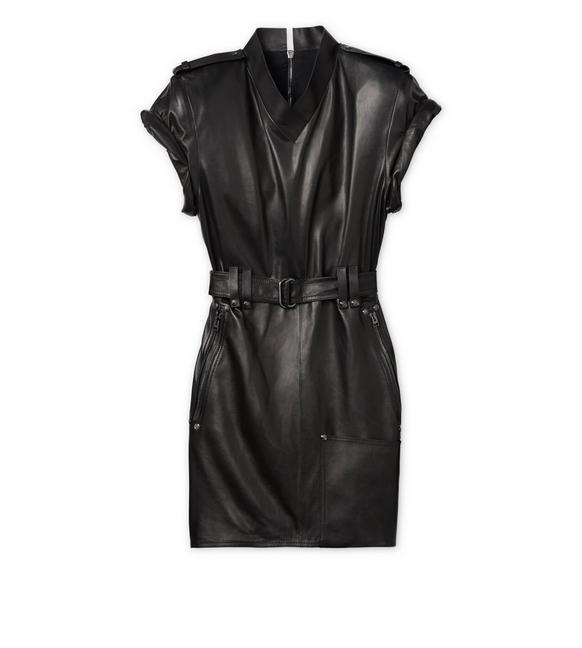 LEATHER MINI DRESS A fullsize