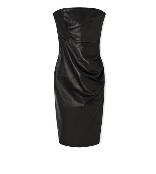 25d8cda9421 STRAPLESS LEATHER DRESS. £2