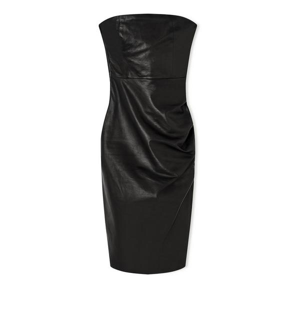 STRAPLESS LEATHER DRESS A fullsize