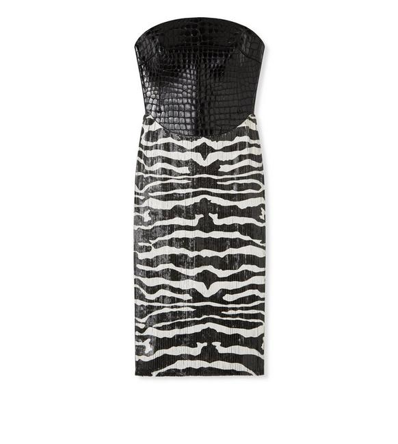 CROCODILE + ZEBRA EMBROIDERED DRESS A fullsize