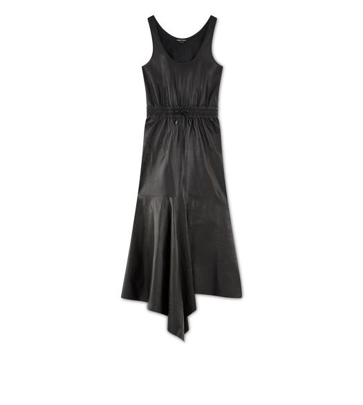 SOFT SILK NAPPA ASYMMETRIC DRESS