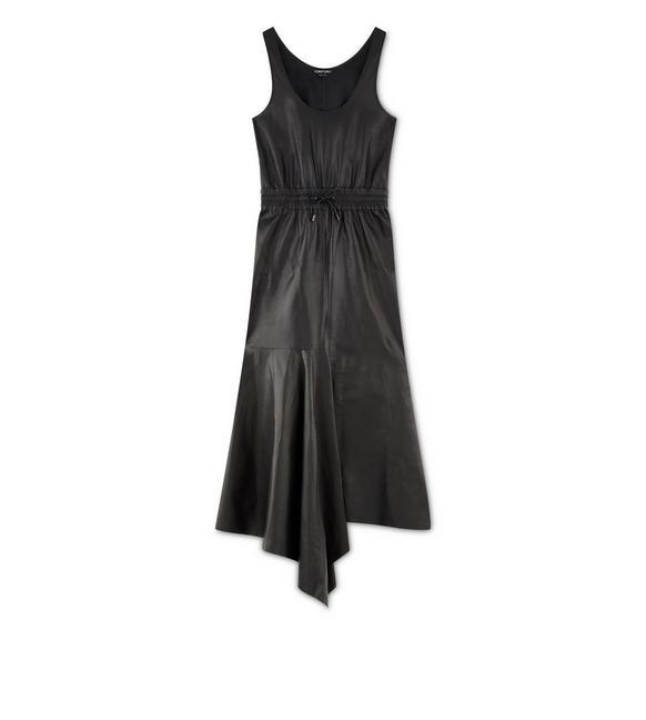SOFT SILK NAPPA ASYMMETRIC DRESS A fullsize