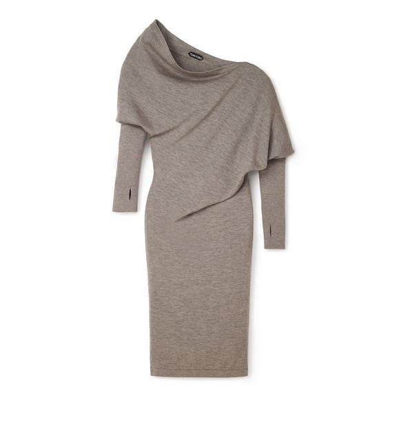 CASHMERE SILK OFF-SHOULDER DRESS A fullsize