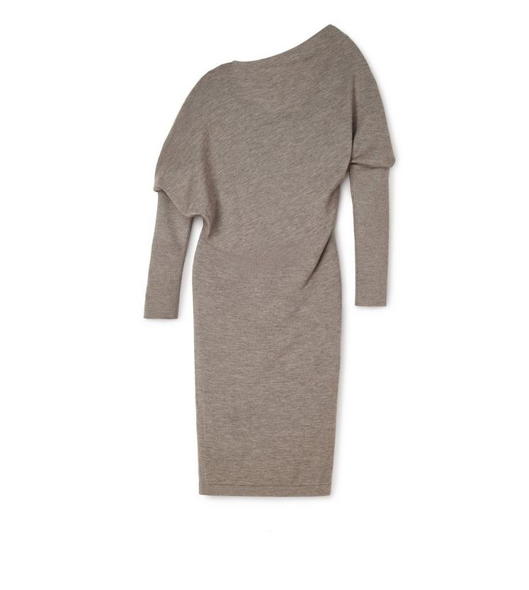 OFF-SHOULDER ASYMMETRIC KNIT DRESS B fullsize