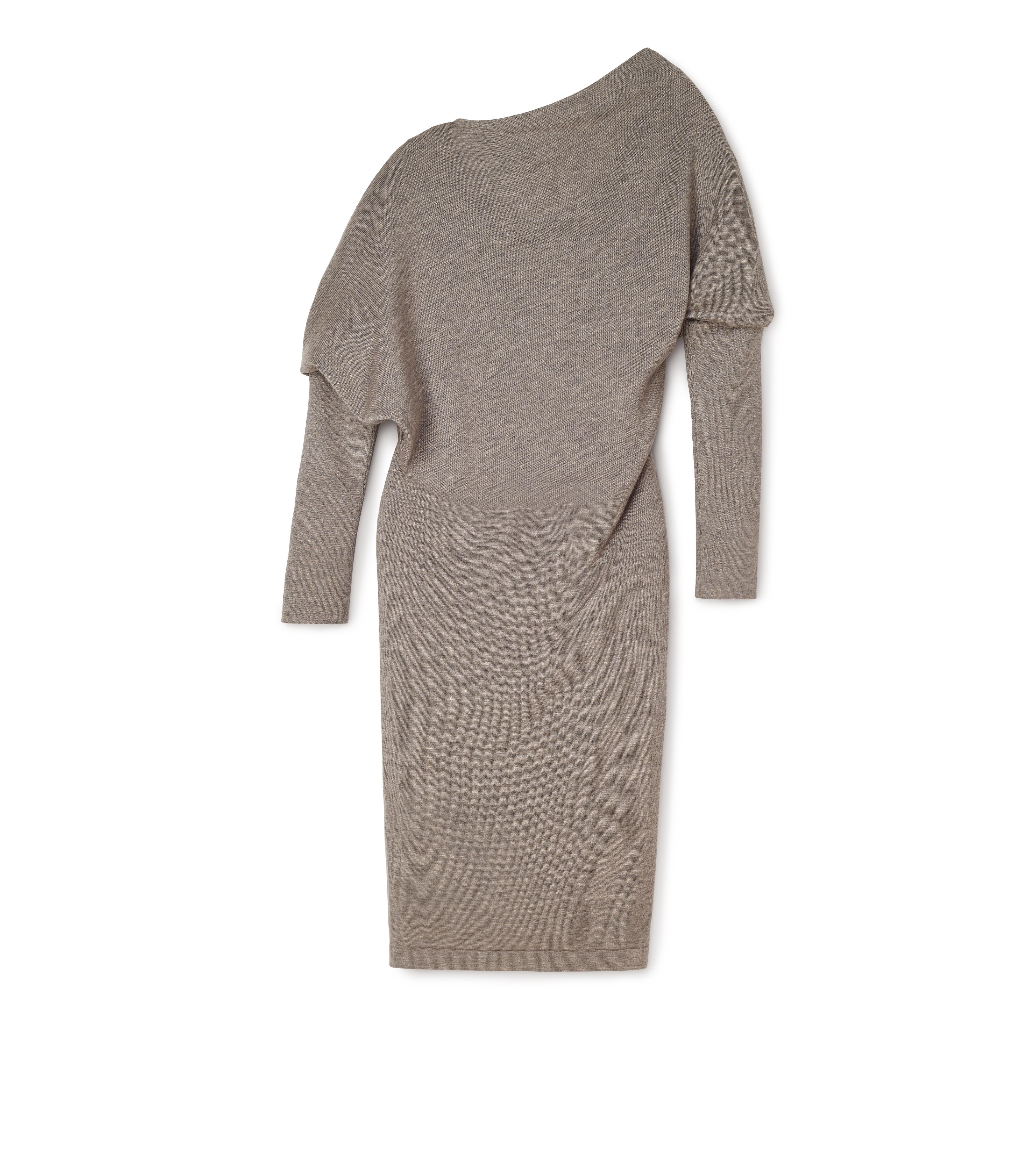 CASHMERE SILK OFF-SHOULDER DRESS B thumbnail