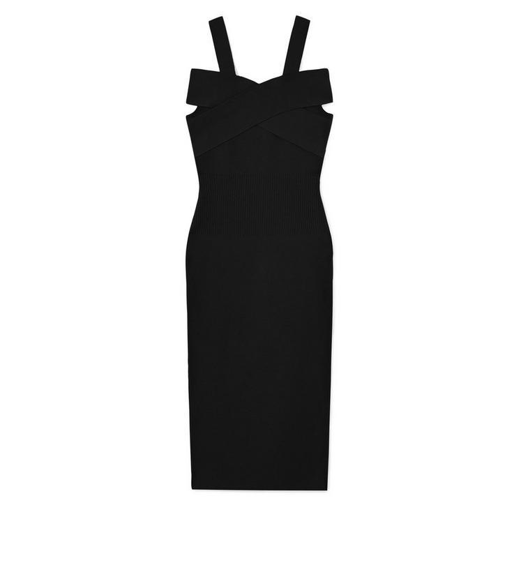 CROSS BAND OFF-SHOULDER SLEEVELESS DRESS B fullsize