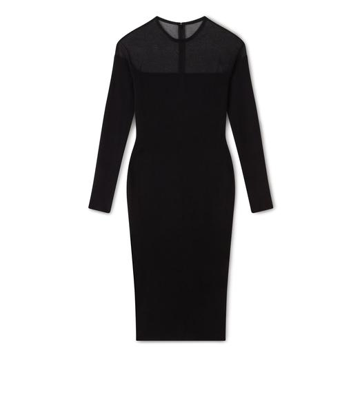 CASHMERE SILK CREW NECK DRESS