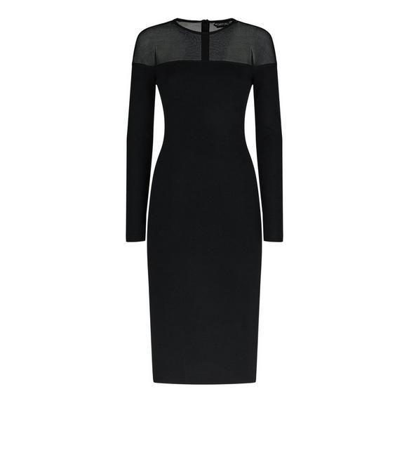 CASHMERE SILK CREW NECK DRESS A fullsize