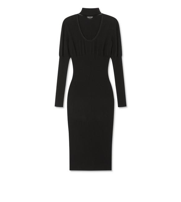 STRETCH CASHMERE RIB DRESS A fullsize