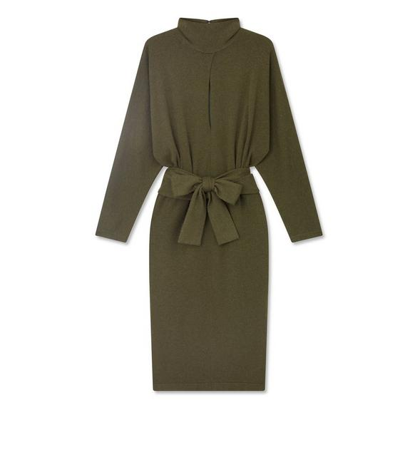 SOFT CASHMERE BELTED DRESS A fullsize
