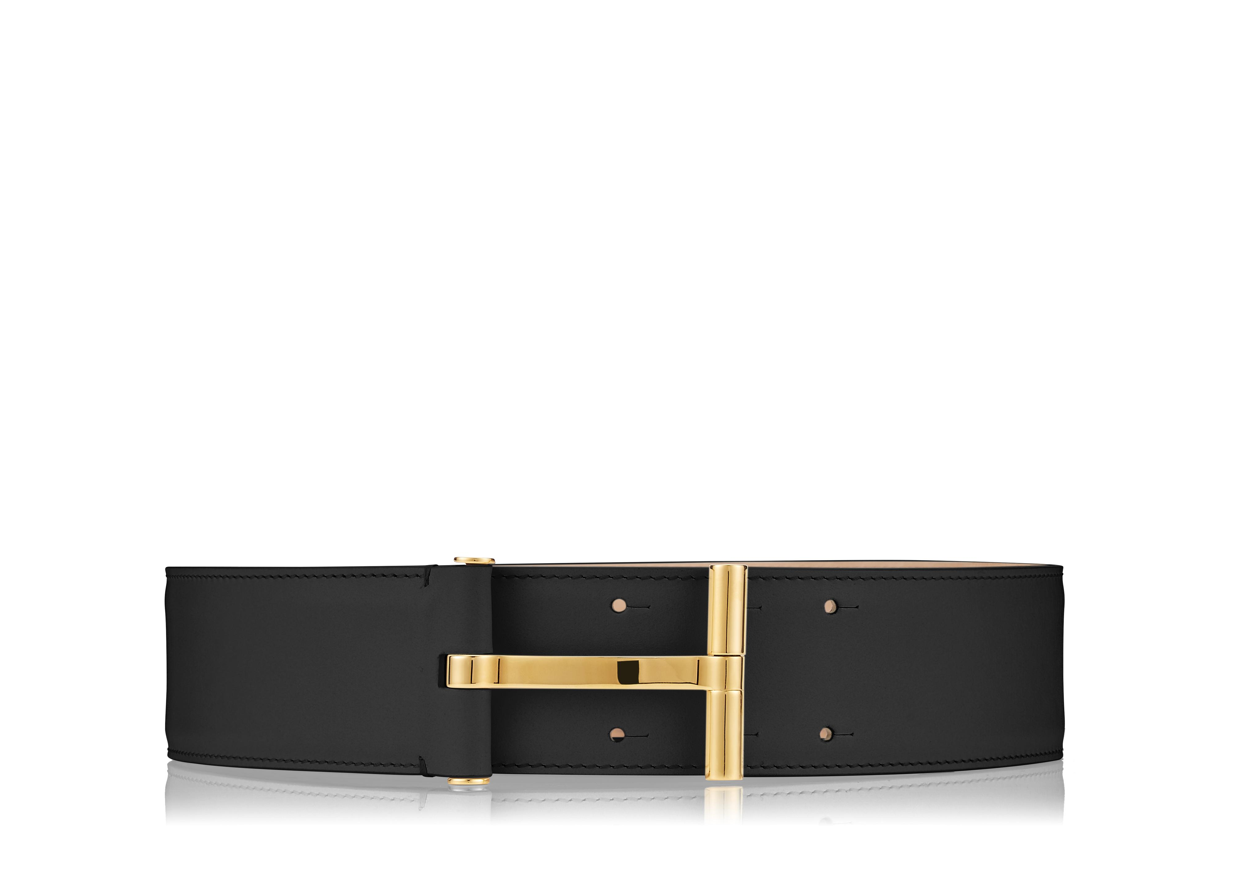 SMOOTH VACCHETTA T CLASP WAIST BELT A thumbnail