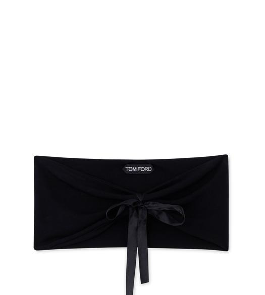 CREPE JERSEY BANDEAU WITH BOW