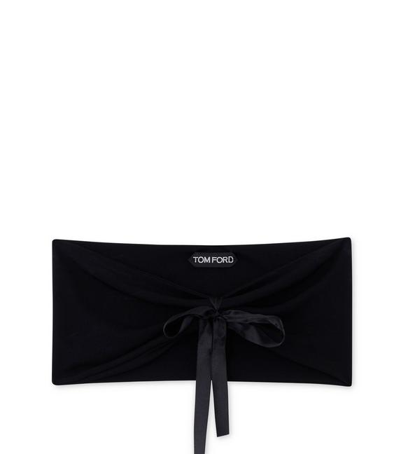 CREPE JERSEY BANDEAU WITH BOW A fullsize