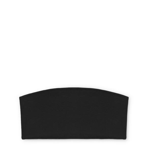 STRETCH VISCOSE BANDEAU WITH SIDE TF ZIP A fullsize