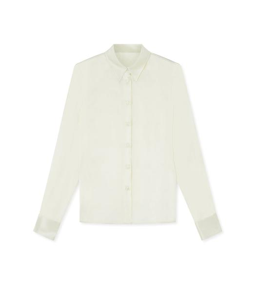 STRETCH CHARMEUSE CLASSIC FITTED SHIRT