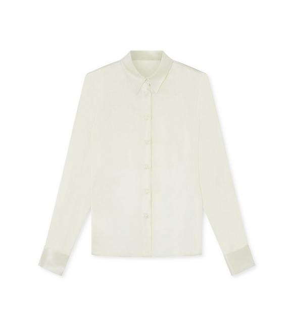 STRETCH CHARMEUSE CLASSIC FITTED SHIRT A fullsize