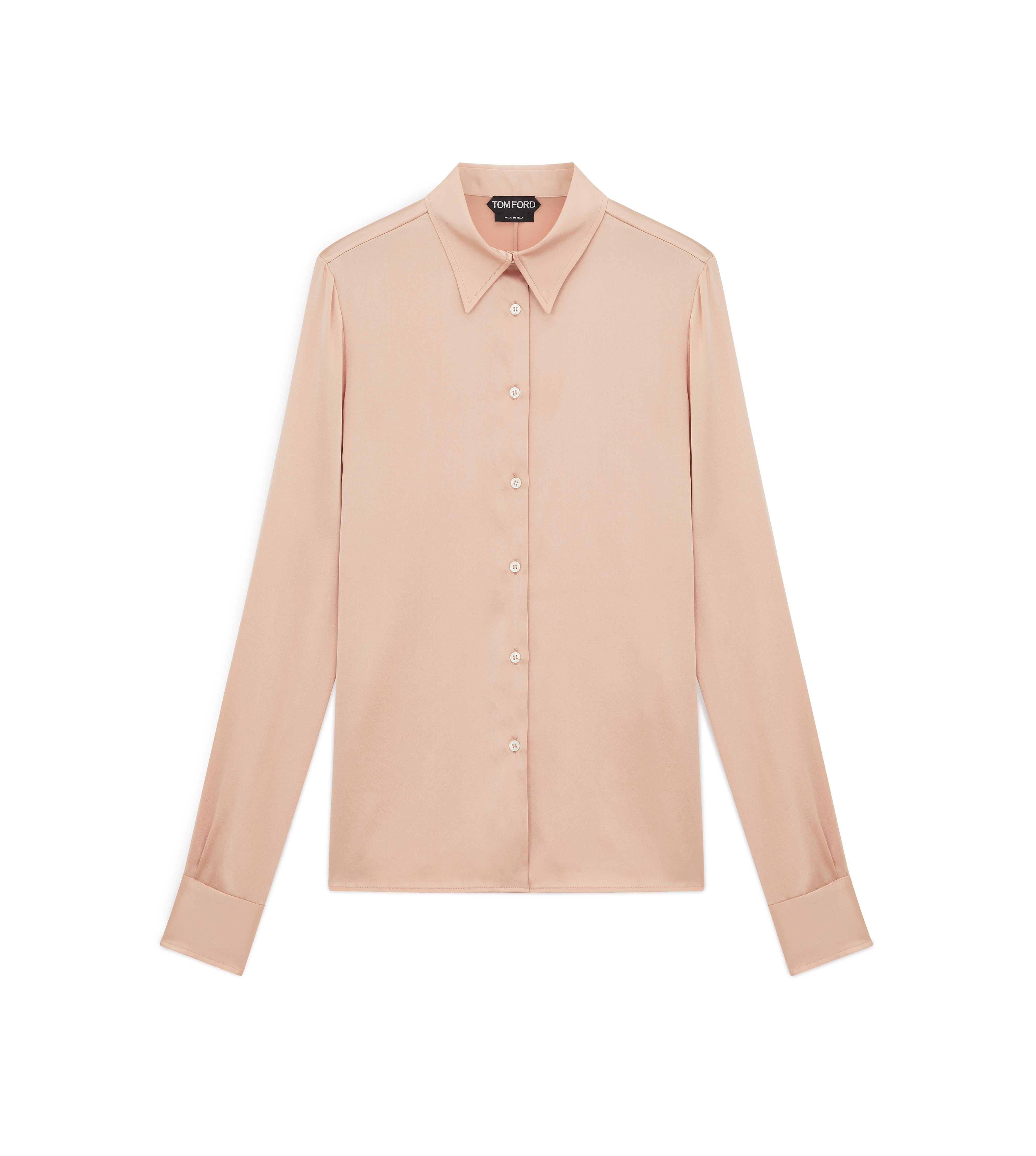 CLASSIC FITTED SILK SHIRT A thumbnail