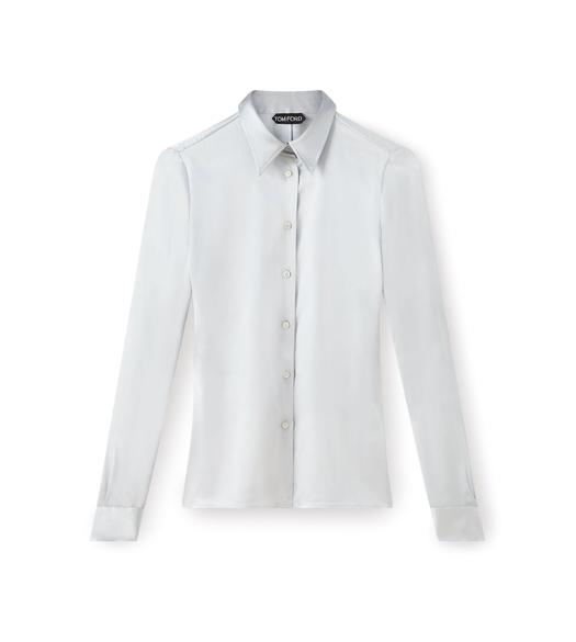 CLASSIC FITTED SILK SHIRT