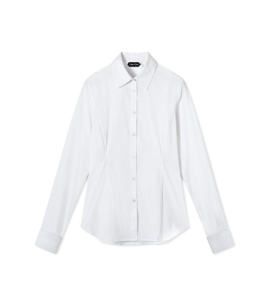 STRETCH COTTON FITTED SHIRT