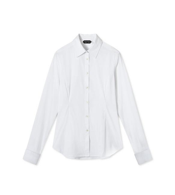 STRETCH COTTON FITTED SHIRT A fullsize