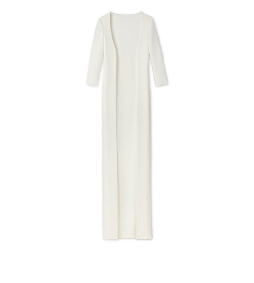 CADY STRETCH FLOOR LENGTH CARDIGAN