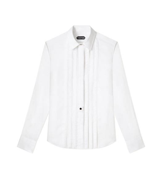 FINE COTTON POPLIN PINTUCK SHIRT