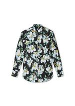 PAINTED FLORAL ON LIGHT BATISTA SHIRT A thumbnail