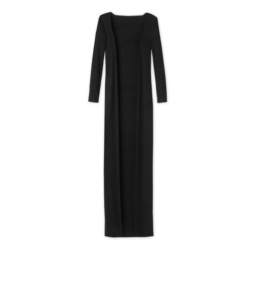 CREPE JERSEY FLOOR LENGTH CARDIGAN
