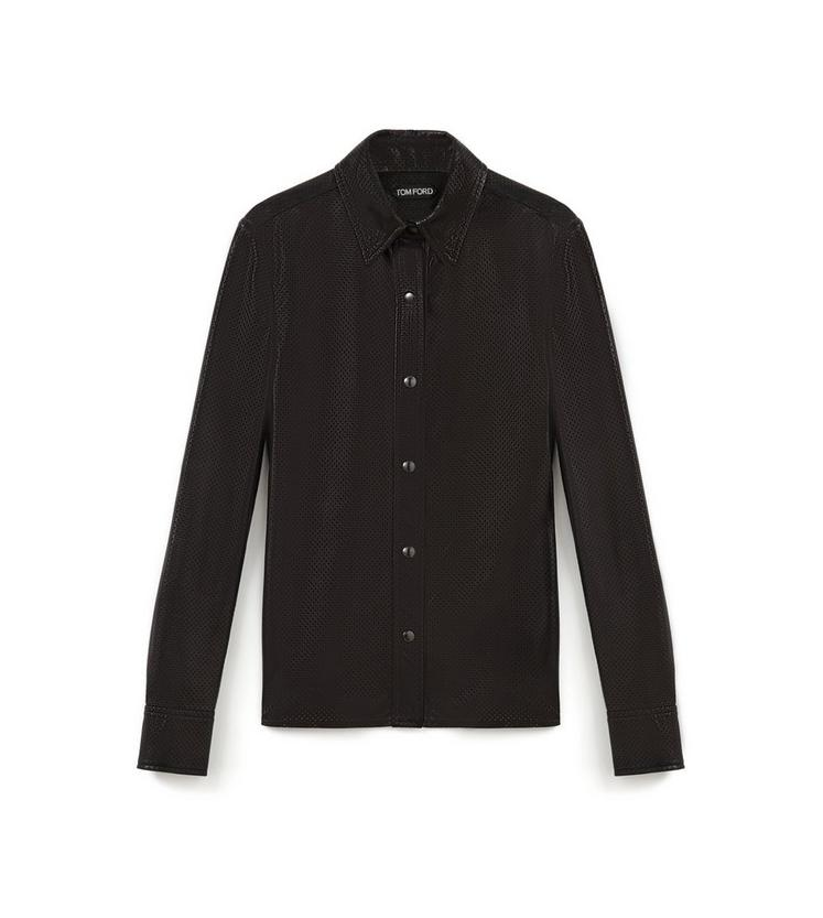 PERFORATED LEATHER SHIRT A fullsize