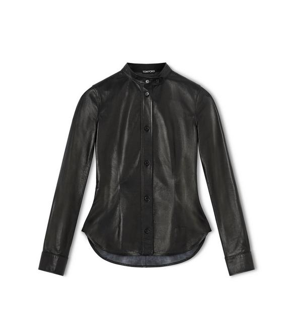 LEATHER FITTED SHIRT A fullsize