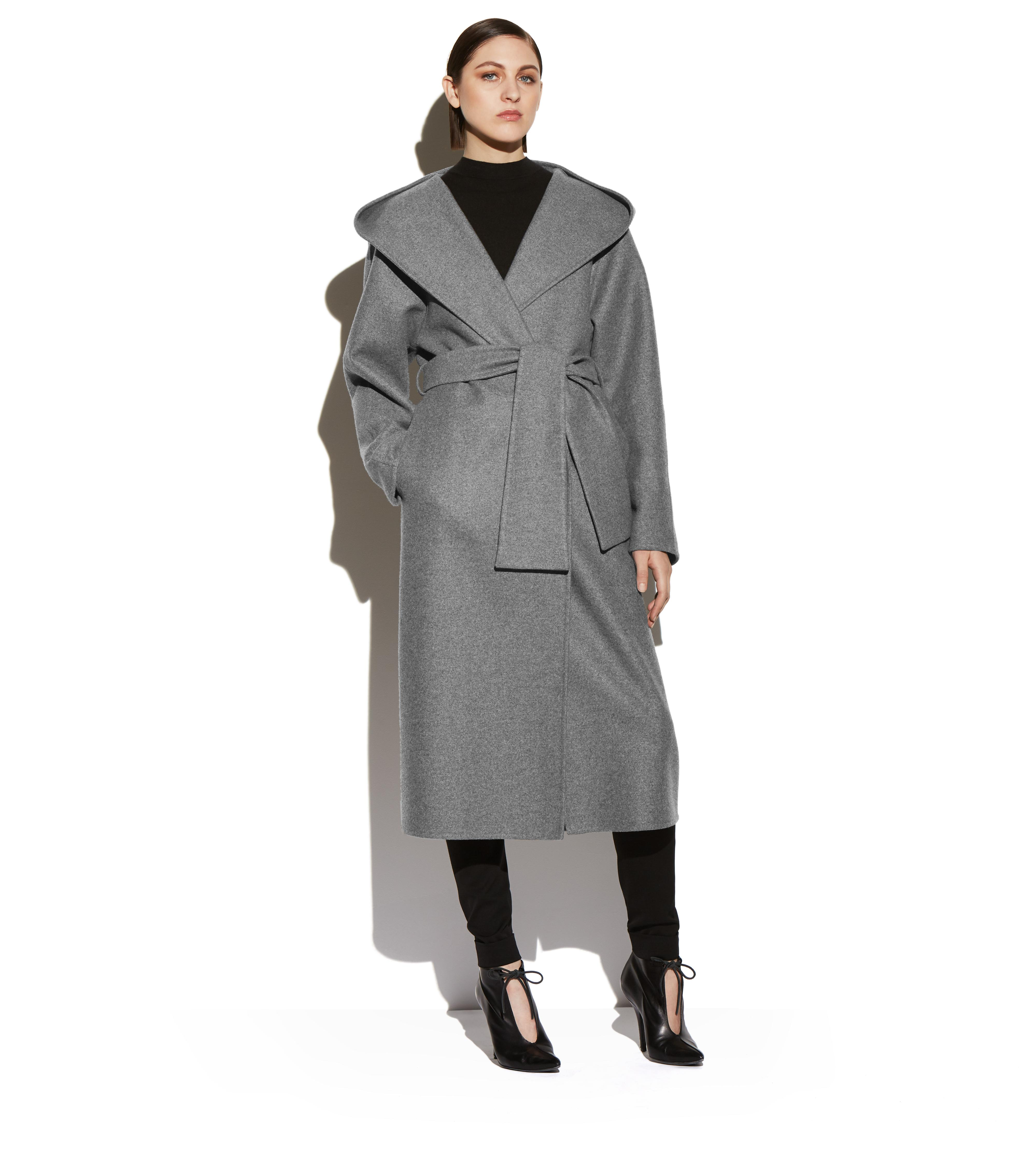 DOUBLE CASHMERE HOODED COAT B thumbnail