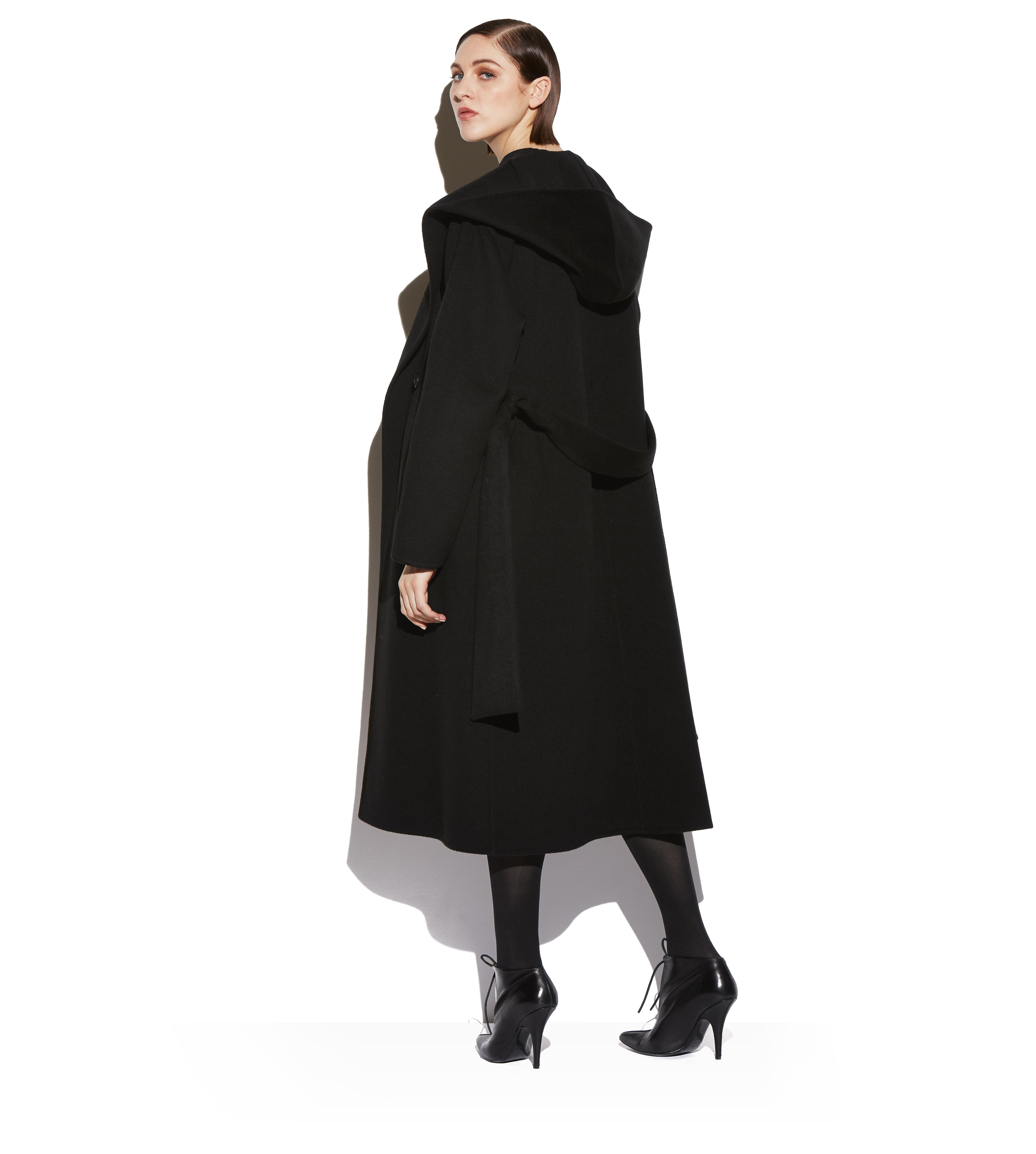 DOUBLE CASHMERE HOODED COAT C thumbnail
